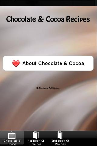 Chocolate Recipes 2014 - screenshot