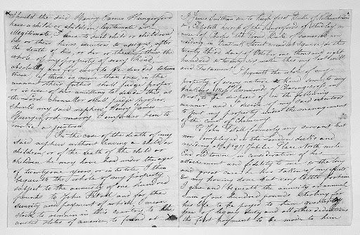 James Smithson's Handwritten Will pages 1 and 3