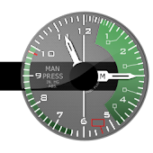 FIGHTER. Army analog clock