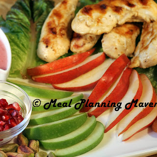 Grilled Chicken Salad with Pomegranate Vinaigrette.