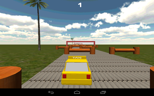 Turning Street Taxi 3D