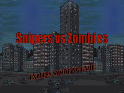 Sniper vs Zombies - Scary Run