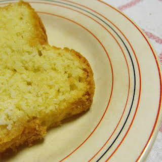 Egg White Cake and Powdered Sugar.