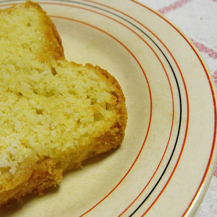 Egg White Cake and Powdered Sugar