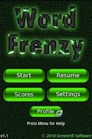 Screenshot of Word Frenzy ™