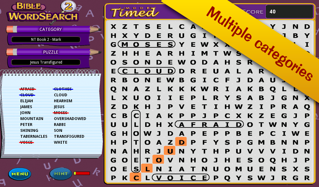 Bible Word Search 2! - screenshot