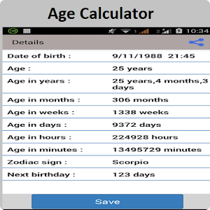 Age Calculator - Android Apps on Google Play