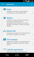 Screenshot of DashClock Skype Extension