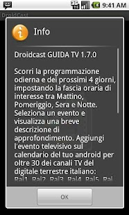 Guida TV Droidcast- screenshot thumbnail