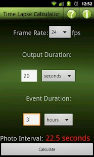 Time Lapse Calculator Lite- screenshot thumbnail