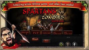 Screenshot of Spartans vs Zombies defense