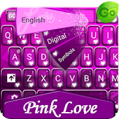 GO Keyboard Pink Love