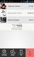Screenshot of PAXI Carpooling Calculator
