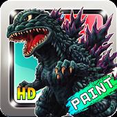 Coloring Godzilla :Strike Zone