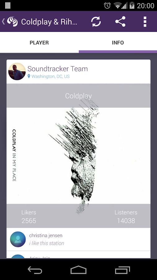 Soundtracker- screenshot