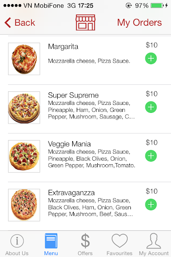 Deliva imenu - Pizza Feast