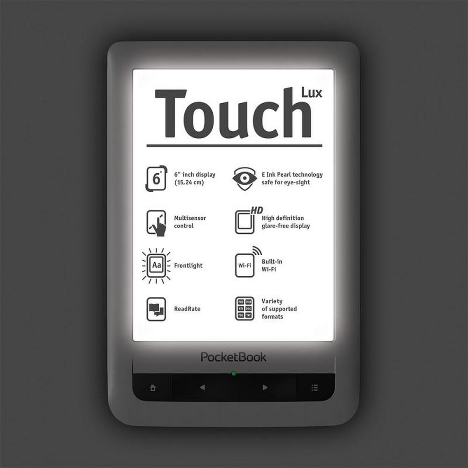 Pocketbook Touch Lux, magnífico ereader
