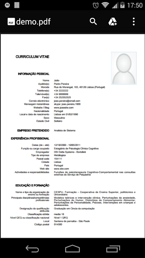 european curriculum vitae free android apps on google play