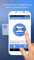 Screenshot of ScanBizCards Premium