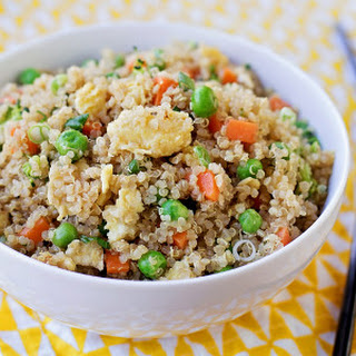"Easy Quinoa ""Fried Rice""."