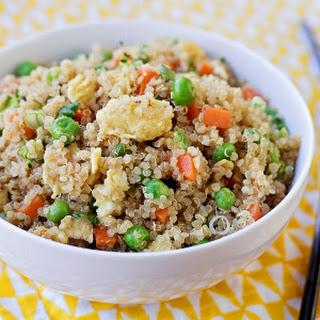 "Easy Quinoa ""Fried Rice""."