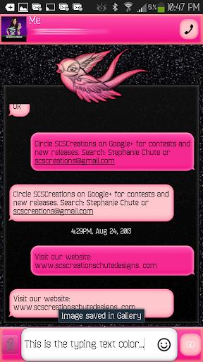 GO SMS - Precious Bird 2