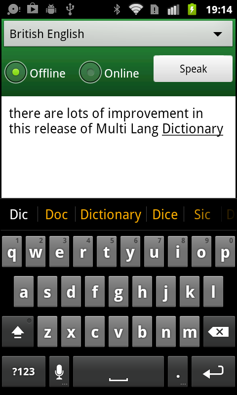 Multi Lang Dictionary Pro Key- screenshot