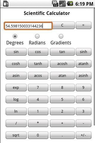 Scientific Calculator Pro - screenshot