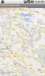 OpenCaching.pl - Mapa