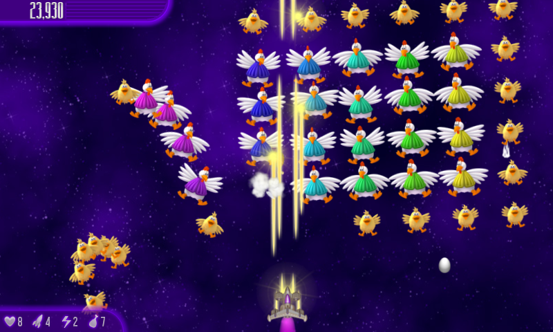 Chicken Invaders 4 HD (Tablet)- screenshot