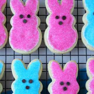 Peeps Bunny Easter Sugar Cookies.