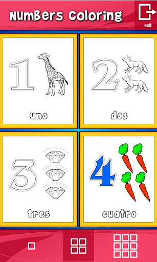 玩教育App|Spanish Numbers Coloring免費|APP試玩