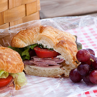 Ham and Cheese Picnic Sandwiches.