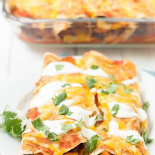 Sweet Potato and Black Bean Enchiladas.
