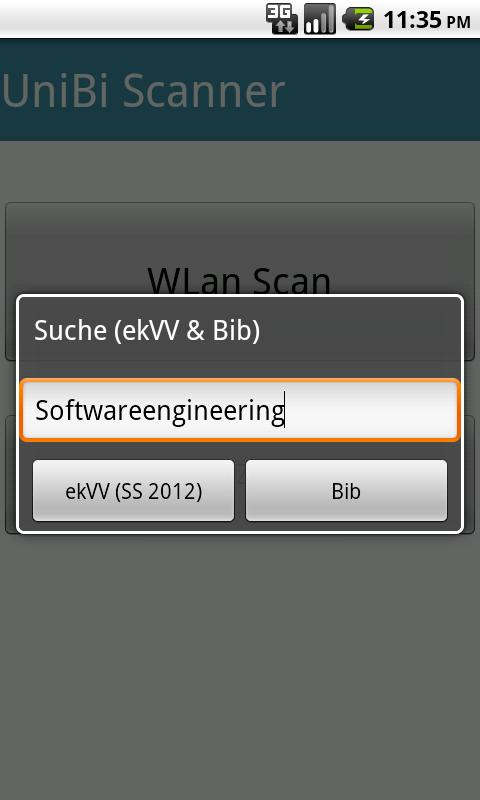 UniBi Scanner - screenshot