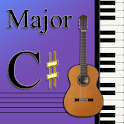 Learn Music Maj Scale Notes:C# logo