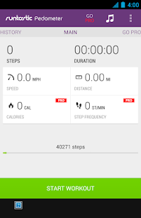 Runtastic Pedometer Step Counter Screenshot