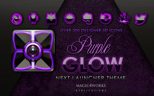 Next Launcher theme P glow