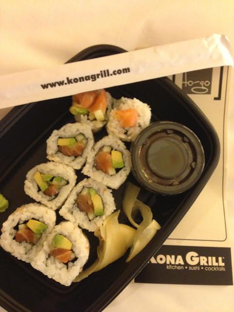 Gluten free   California rolls with Salmon!