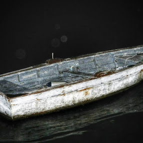 Old Boat of Local Fisherman by Nat Bolfan-Stosic - Transportation Boats ( water, old, device, local, rusty, transportation, boat, fisherman )