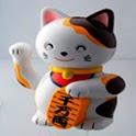 3D Beckoning cat logo
