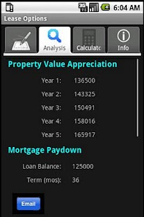 Lease Option Evaluator - screenshot thumbnail