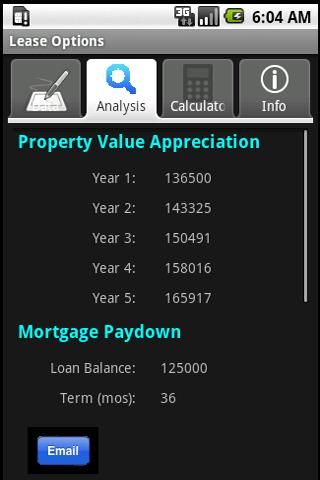 Lease Option Evaluator- screenshot