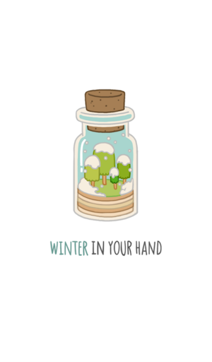 winter in your hand 카카오톡 테마