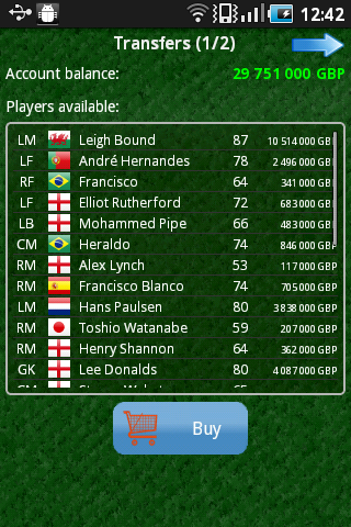 True Football (Manager) - screenshot