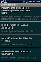 Screenshot of Electro - House Mixes
