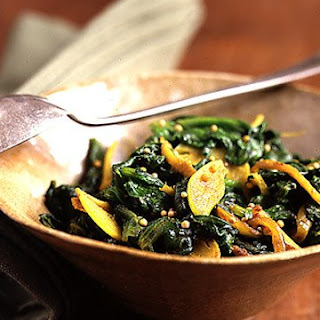 Spinach Sauteed With Indian Spices.