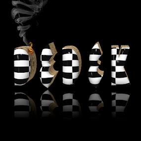 dedek by Dietmar Kuhn - Typography Words ( 3d, black and white, reflections, se, chechers )