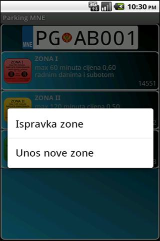 Parking MNE- screenshot
