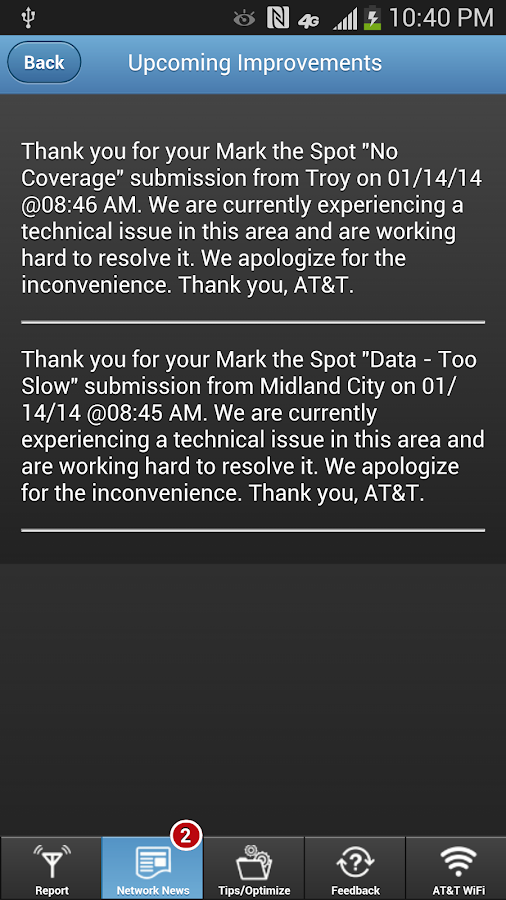 AT&T Mark the Spot - screenshot